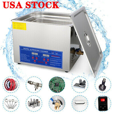 10L Stainless Steel Industry Ultrasonic Cleaner with Heater and Digital Control