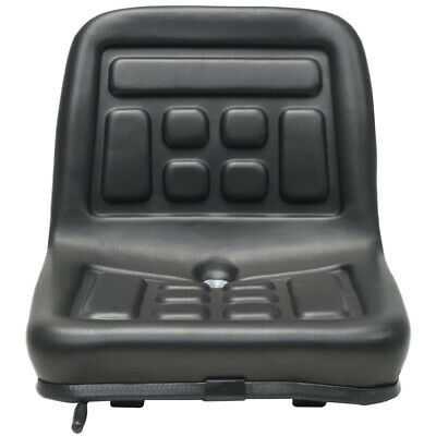 Universal Tractor Seat PVC Black Dumper Mower 150mm Adjustable W/Drainage Hole