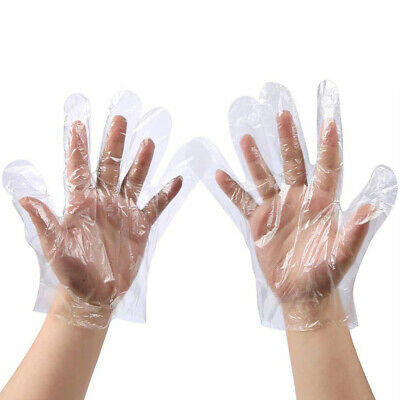 500pcs New Home Disposable Transparent Thin Film PE Gloves Waterproof