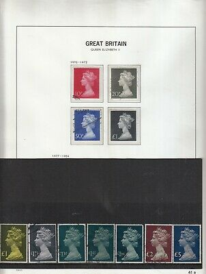 Gb 1971-1984 Large Type High Value  Machins Used