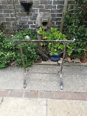 1 Antique Wrought Iron Trestle