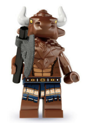 Lego  New Series 6 Minotaur Minifigure Mionster With Stand