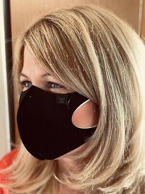 face mask virus safety black two layer organic cotton washable reusable hygiene