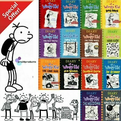 Jeff Kinney Diary Of A Wimpy Kid All Books  Serie 1-14 🔥( PĐ-F,read description
