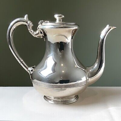 Absolutely super Antique Heavy Silver Plated Coffee Jug with a satisfying weight