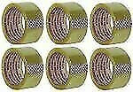 """Clear Packing Tape 2""""X55 Yds (6 Pack)"""