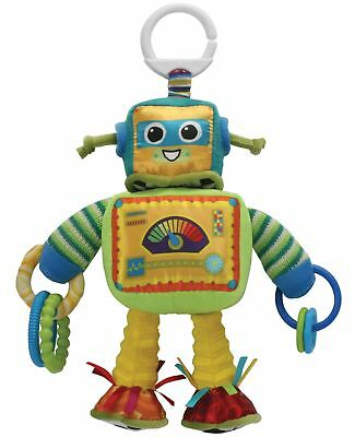 Lamaze RUSTY THE ROBOT Soft Clip-On Buggy/Stroller Toy Baby/Toddler Travel BN