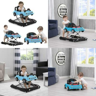New - Jeep Classic Wrangler 3-in-1 Grow with Me Baby Walker, Blue