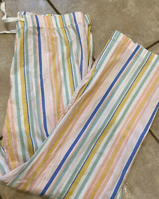 Old Navy Women's RainBow Multi Stripes Pajama Pants! NEW! size L  Lightweight!