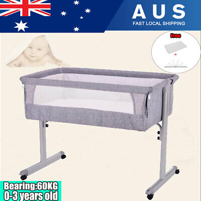 BABY BED Crib SLEEPING Travel Cot Nursery Cradle Infant Toddler Mattress + Net