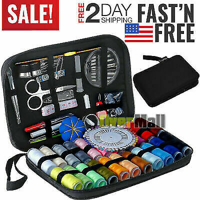 126Pcs/Set Sewing Kit Scissors Needle Thread For Home Stitching Hand Craft Tools