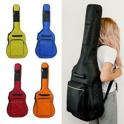 Black Padded Full Size Acoustic Classical Guitar Bag Cover Quality Case new B6C1