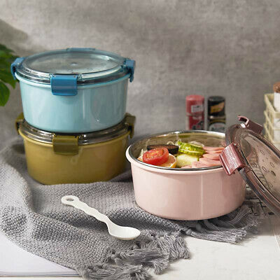 1000ml Portable Round Bento Lunch Box Leakproof Food Container with Lid