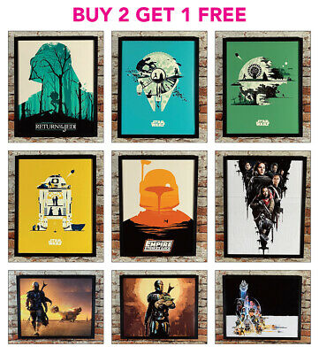 STAR WARS Vintage Style Posters A2/A3/A4 Size Wall Art Picture Prints