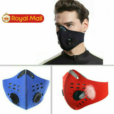 Activated PM2.5 Mouth Face Mask Carbon Filter Air Valve Reusable Anti Fog Masks