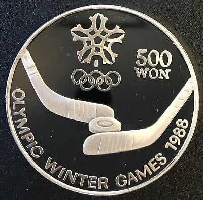Korea - Silver 500 Won Coin - Olympic games - 1988 - Proof