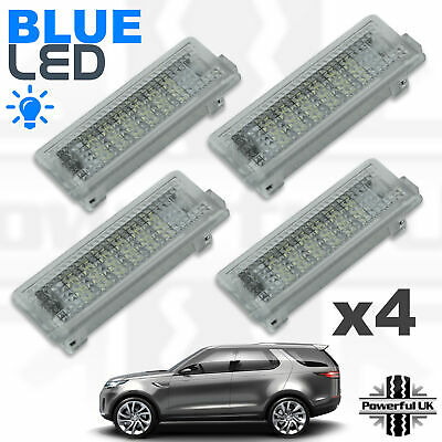 4xBLUE LED lamps Door Card Interior welcome courtesy puddle for Discovery 5 L462