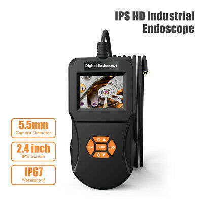 3/5m Industrial Endoscope Inspection IPS Screen 5.5mm Hi-Vision 720P Camera 6LED