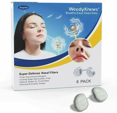 WoodyKnows Super-Defense Nasal Filters Combo (Pack of 4), Slotted Nostril