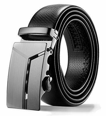 """ITIEZY Mens Ratchet Leather (Adjustable from 26"""" to 42"""" Waist