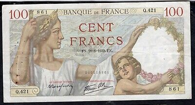 100 Francs Sully 1939