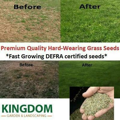 3 Kg Grass Seed Hard Wearing Lawn Seeds Premium Fast Growing Defra Certified