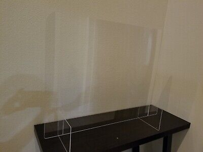SNEEZE GUARD 24Wx30H Acrylic Plexiglass Table Desk Counter Shield - NEW