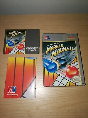 Marble Madness NES Box - Manual - Poster - NO GAME