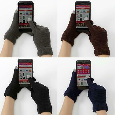Unisex Casual Soft Full-Finger Windproof Touch Screen Warm Gloves 0007