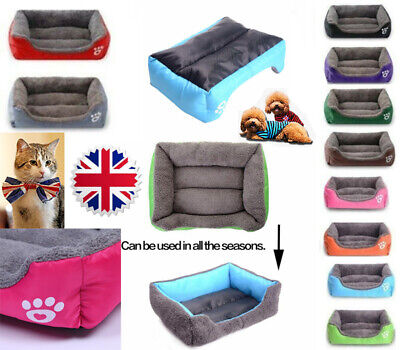UK Pet Dog Cat Bed mat Puppy Cushion Soft Warm House Kennel Mat Blanket Washable