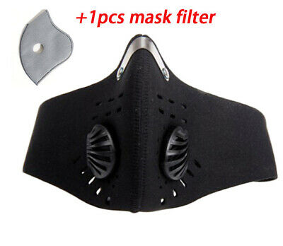 PM2.5 Face Mask With Filter, Spare 5 Layer Replaceable Carbon Filter, UK Seller