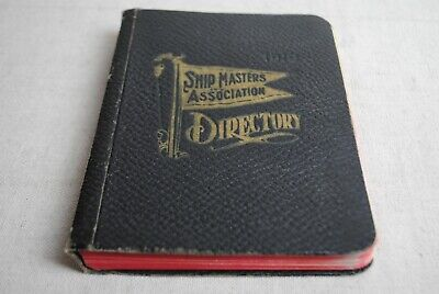 Ship Masters Association Directory 1919 faded numbers