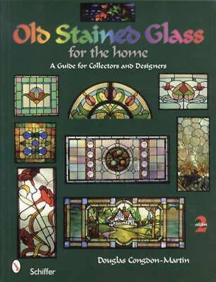 Antique Stained Glass Guide Book Windows Door Panel Design