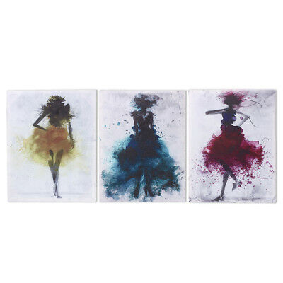 Watercolor Fashion Girl Abstract Art Canvas Print Oil Painting Poster Wall Decor