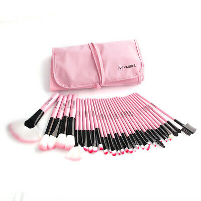 32Pcs Professional Cosmetic Makeup Brushes Brush Set Kit With Pouch Bag Pink