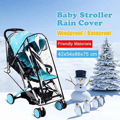 Baby Stroller Waterproof Rain Cover Wind Dust Shield Carrier Raincover Universal