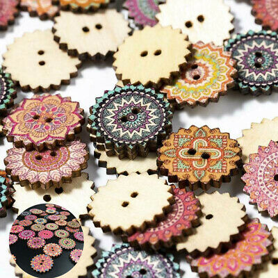 CW/_ EP/_ 100pcs//Lot Flower Buttons 2 Holes Sewing Scrapbook Cardmaking Craft DIY