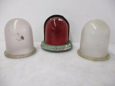 Mixed Lot of 3 Vintage Mine Light Covers - Red & Clear