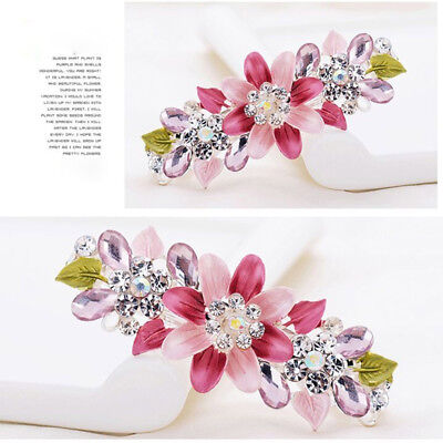 Flower Headwear Hair Clip Girl Hairgrip Women's Crystal Hairpin Accessories FM