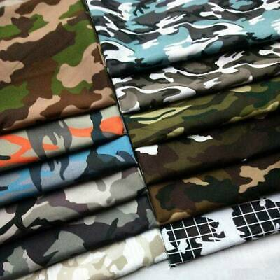 100% Cotton Poplin Camouflage Army Camo Print Fabric Quilting Sewing By The Yard