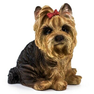 "Yorkie Yorkshire Terrier Dog Figurine Statue 4.25""H Resin New In Box!"