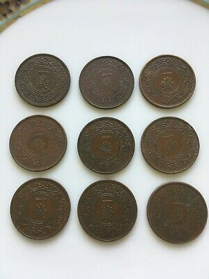 Old Japanese One Sen coins 50 pieces
