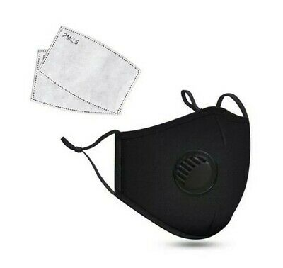 Reusable Protective Anti Virus Face Mask Filter - Washable Breathable Adjustable
