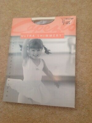 Capezio Young Girls Stirrup Tights In Colour Toast Size M Approx Age 5-8 Years