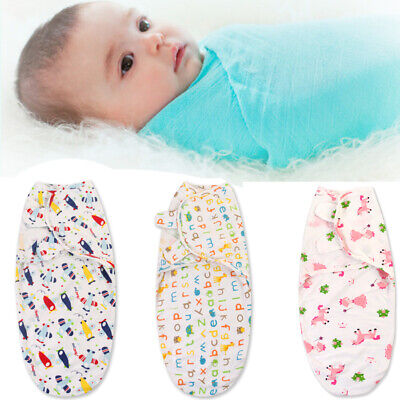 Baby Sleeping Bag Newborn Swaddle Wrap Cotton Blanket Stretchable Sleepsack