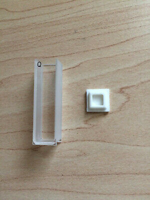 10mm Micro Quartz White Wall Cuvette with PTFE Cover for UV Spectrophotometer