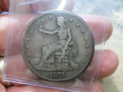 1877 S Seated Trade Dollar Very Good Condition