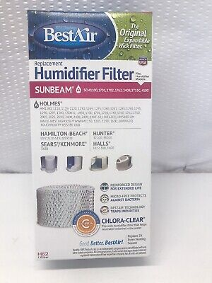 BestAir H62 Humidifier Replacement Wick Humidifier Filter, For Holmes & Sunbeam Models