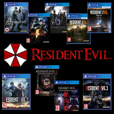 Resident Evil PS4 Games 2 3 4 5 6 7 Gold Revelations Origins Remake NEW & SEALED