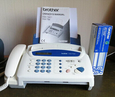 Fax Telephone... Used Brother Fax  T84 With A New And Boxed Replacement Fax Ribb